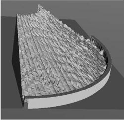 DRAPETEST results used in 3D fabric preform modelling simulation