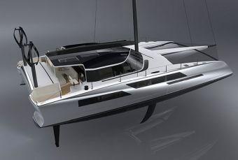 IBEX 2017 sustainability seminar Daedalus Yachts D80 electric powered catamaran carbon fiber composite