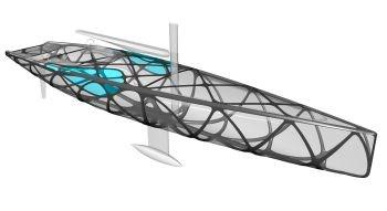 EXO sailing yacht uses ELiSE bionic lightweight design process