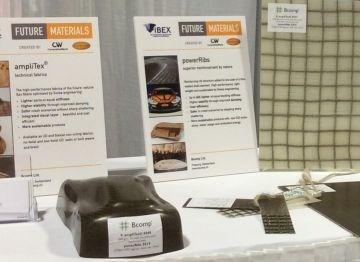 IBEX 2017 Future Materials exhibit Bcomp natural fiber reinforcements for composites
