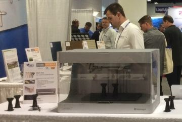 IBEX 2017 Future Materials exhibit Markforged 3D printer for carbon fiber composites