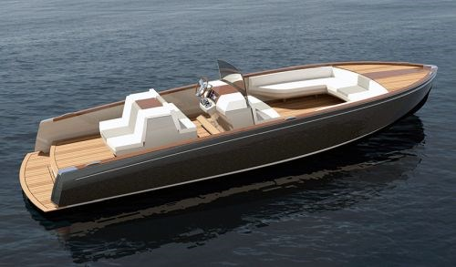 Composite Boat Stringers : First all electric production yacht features carbon fiber