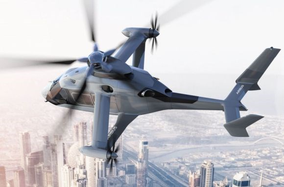 Racer future fast helicopter from Airbus Helicopters features box-wing with twin pusher propellers