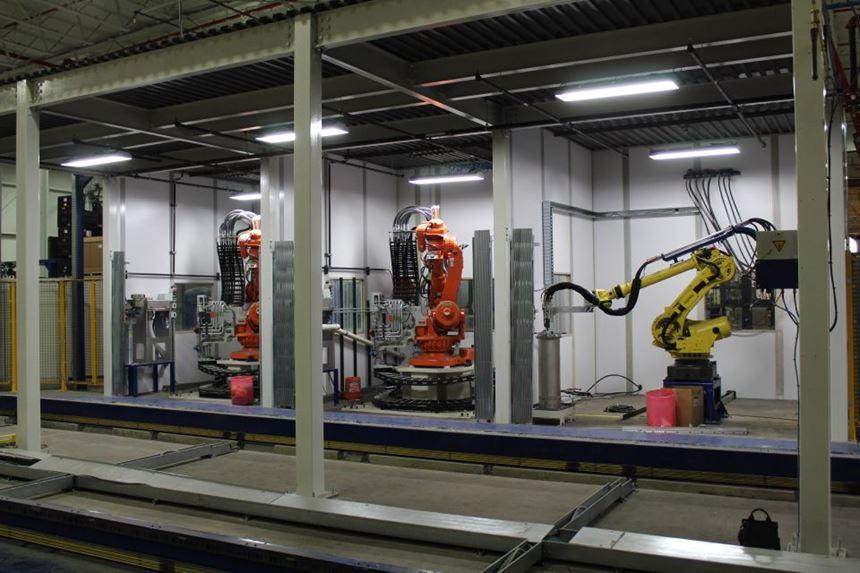 Romeo RIM long fiber injection LFI composites robotic in-mold paint IMP