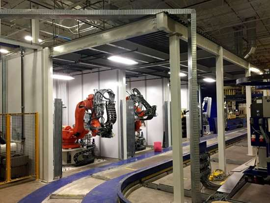 Romeo RIM long fiber injection LFI composites robotic fiber and resin application