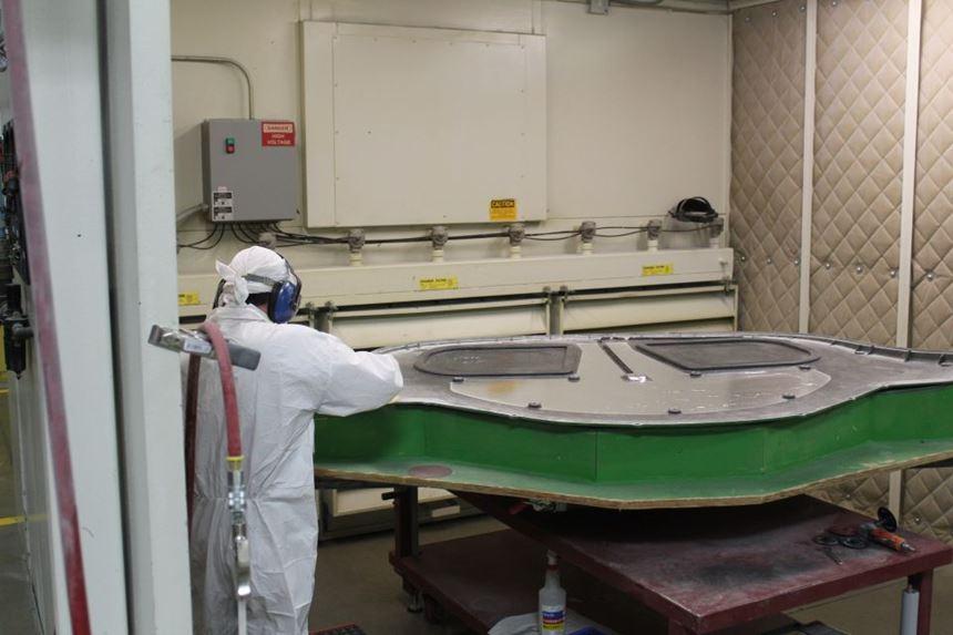 Romeo RIM long fiber injection LFI composites final CNC trimming