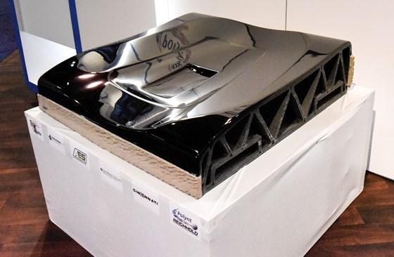 CAMX 2017 automotive tool mold 3D printed Cincinnati Inc. BAAM Polynt high-build coating TruDesign finish
