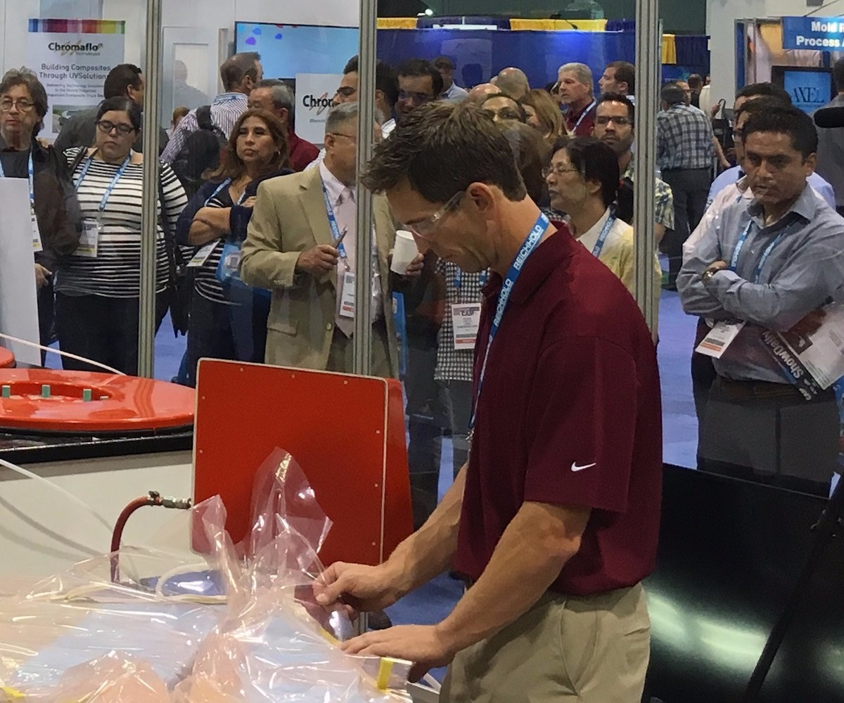 Composites One demonstration at CAMX.