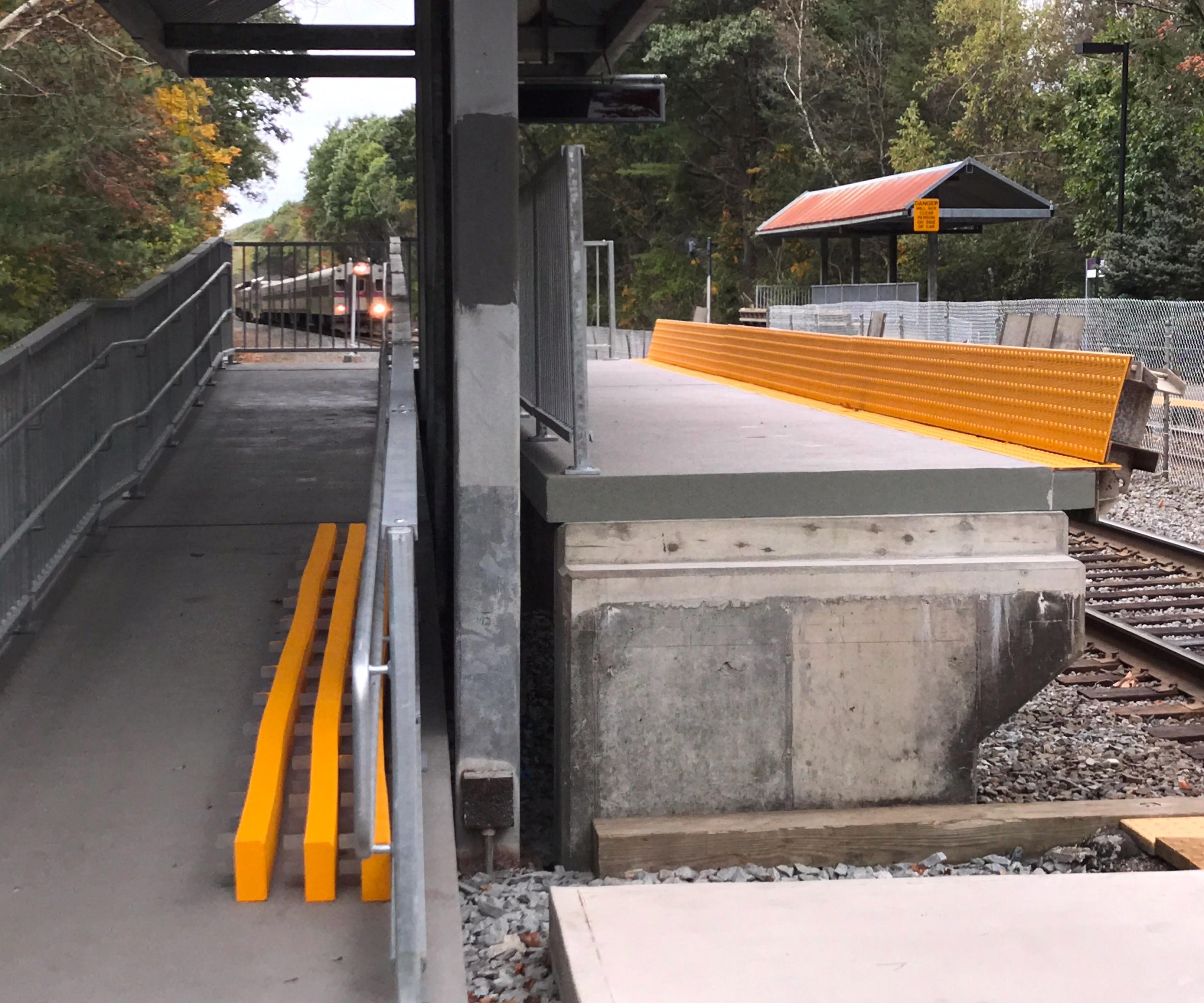 Composite Advantage FRP platform at West Natick, MA station