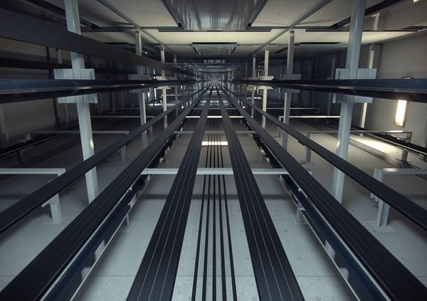 KONE UltraRope elevator cabling system.