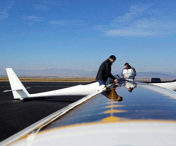 Bye Aerospace's StratoAirNet, featuring solar panel technology manufactured by SolAeroTechnologies.
