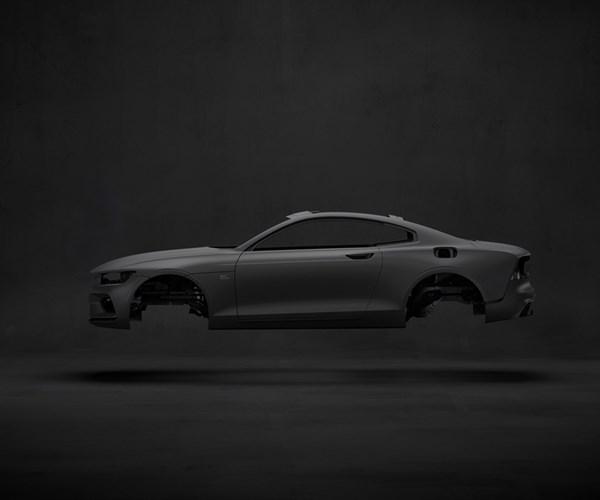 Volvo Polestar 1 carbon fiber body.