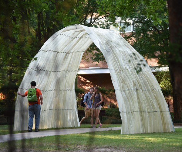 Folded composite structure at Clemson University.
