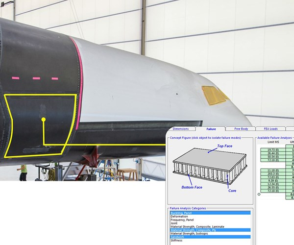 HyperSizer applied to Stratolaunch.