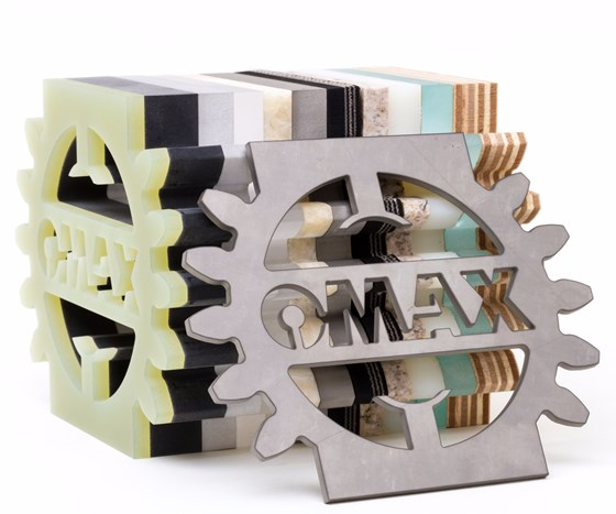 OMAX material samples