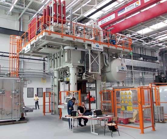 Siempelkamp hybrid press.