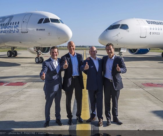 Airbus and Bombardier announce partnership on C Series aircraft