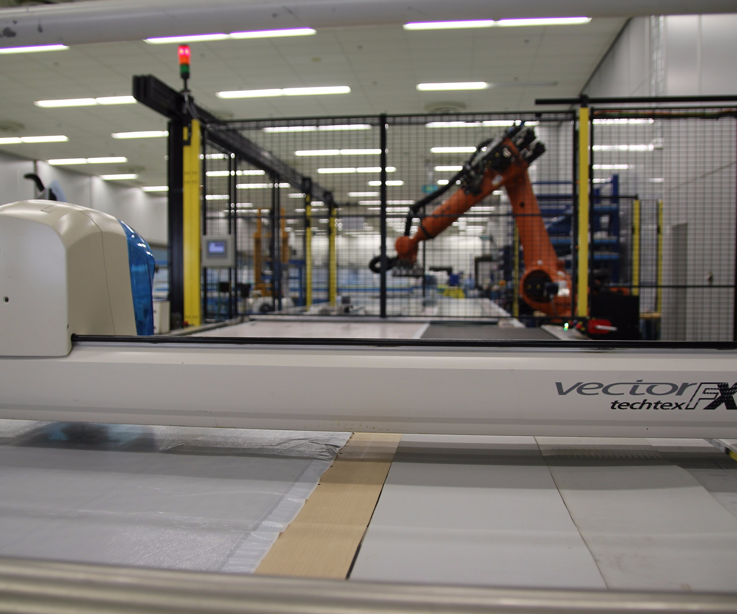 Airborne automated cutting and kitting solution