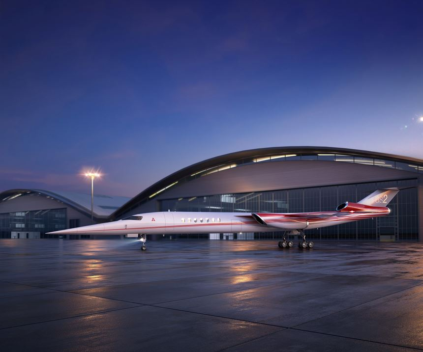 Aerion AS2 supersonic business jet.