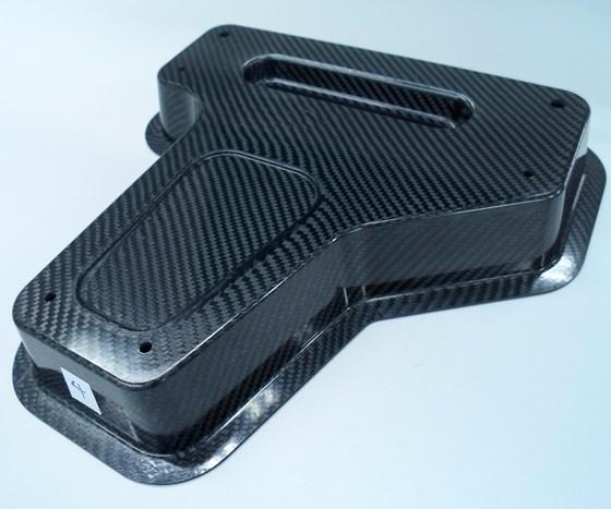 Shape press-molded demonstration part.