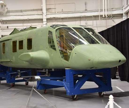 Bell V-280 composite fuselage at Spirit AeroSystems plant.