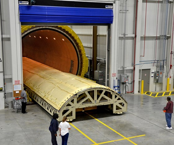 Spirit AeroSystems tool in autoclave.