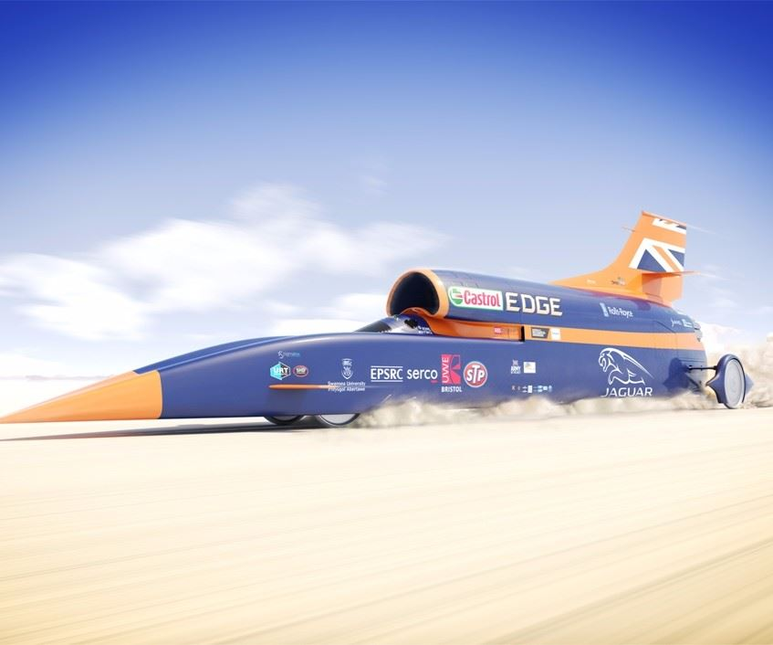 Bloodhound SSC speed record car