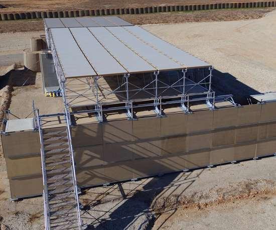 PolyOne, Edwards Design and Fabrication ballistic shelter panels.