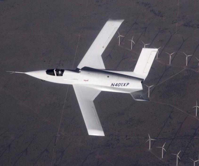 Scaled Composites experimental aircraft Model 401 first flight