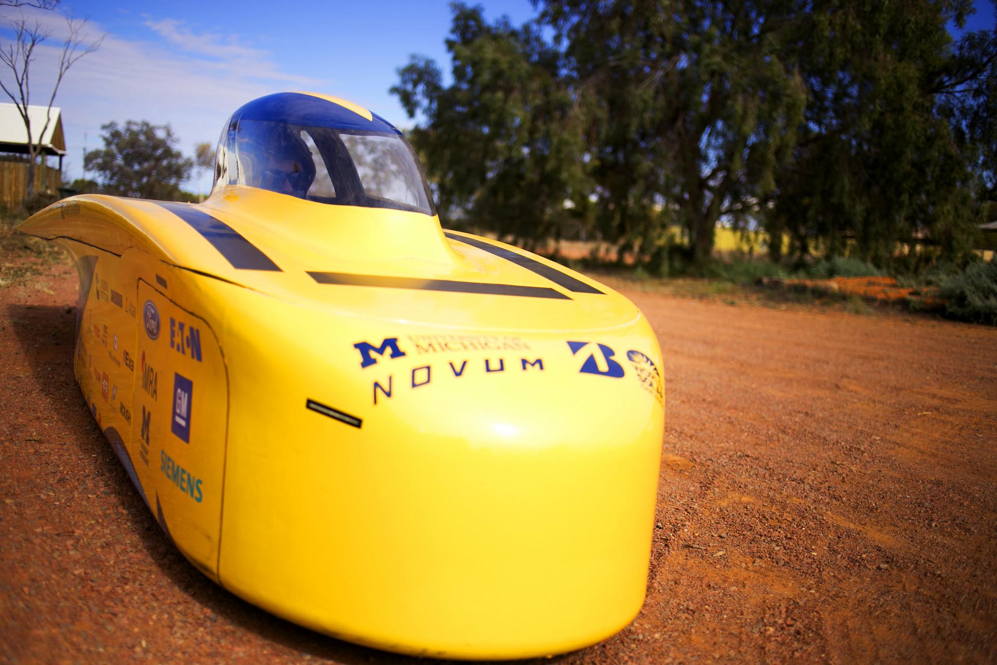 University of Michigan solar racer, dubbed Novum.