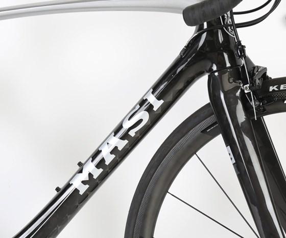 Masi Bikes carbon fiber frame.