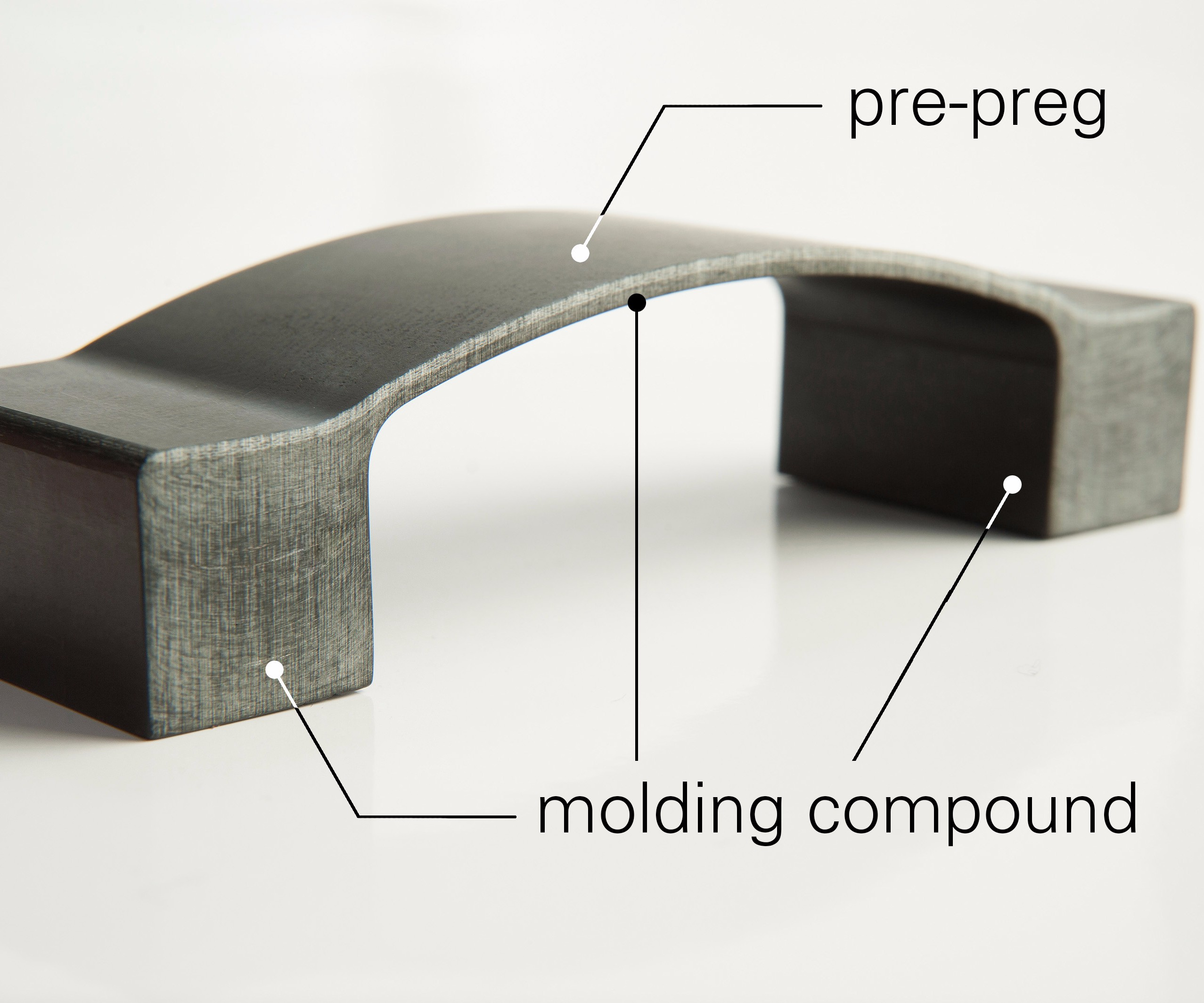 Norplex-Micarta EnableX prepreg, sample part.