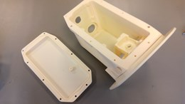 3D-printed camera case prototype for the Airbus A380