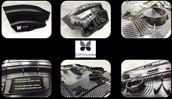 CCP Gransden overmolded carbon fiber/PPS composite demonstrator