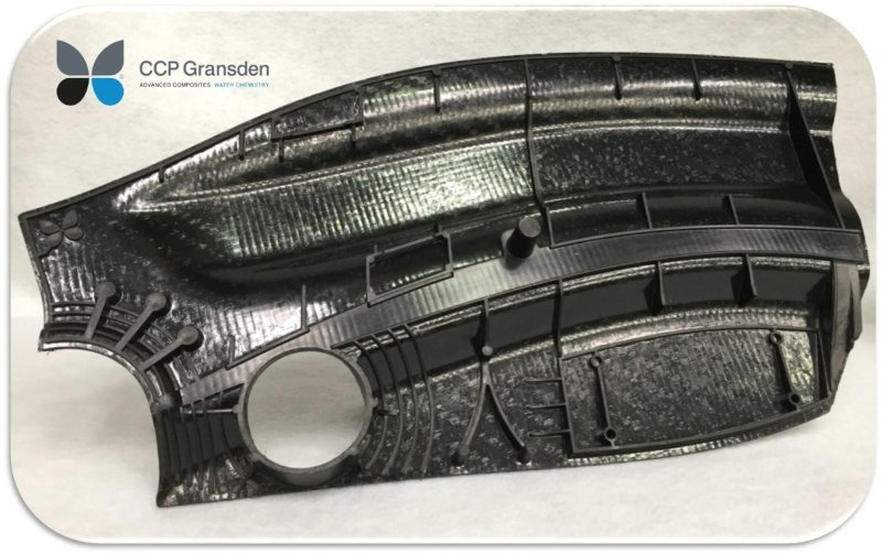 CCP Gransden overmolded carbon fiber PEEK composite demonstrator part
