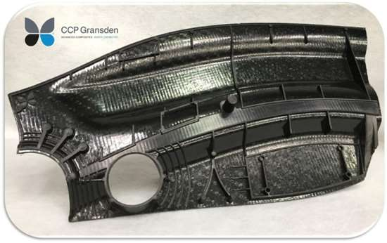 CCP Gransden overmolded carbon fiber PEEK composite demonstrator part