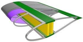 GE wind turbine blade ARPA-E project tensioned fabric Williams FW-EVX CFRP Racetrak HP-RTM carbon fiber composite ribs Vestas