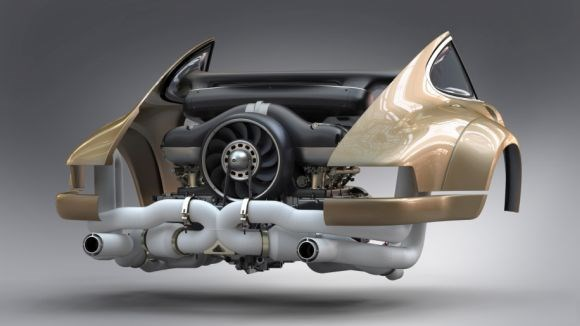Williams Advanced Engineering Singer Vehicle Design Porsche engine CFRP carbon fiber airbox fan shroud