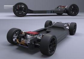 Williams FW-EVX electric vehicle platform skateboard chassis CFRP carbon fiber