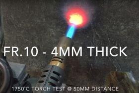 Carbon Fibre Preforms carbon fiber high temperature resin composite parts fire test 1250C torch at 50mm distance