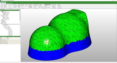 Cevotec Artist Studio built-in CAD-CAM software for Fiber Patch Placement composite preforms
