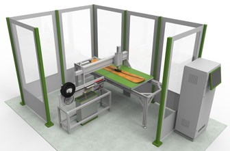 Cevotec SAMBA Step 2.5D automated composite preforming cell