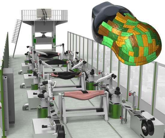 Cevotec Fiber Patch Placement composite preforming for high-volume composite parts production