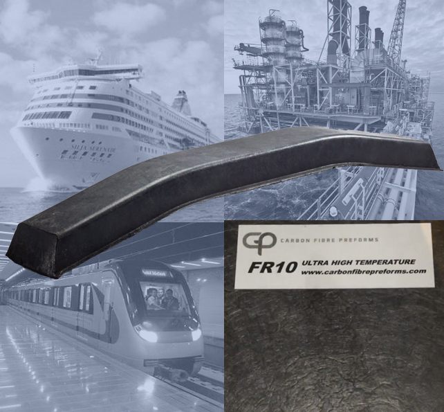 Carbon Fibre Preforms FR.10 chopped carbon fiber composite preforms for high temperature applications