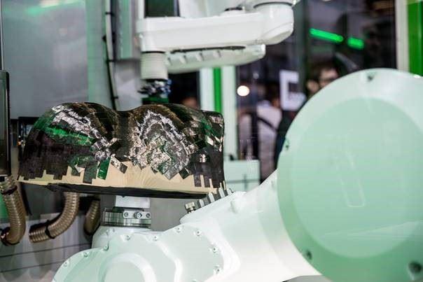 Cevotec SAMBA prepreg automated tape laying preforming work cell