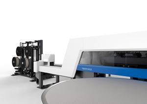 Dieffenbacher Fiberforge automated tape laying tailored blanks for high-volume composites production