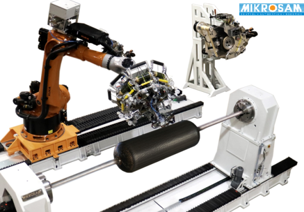 MIKROSAM thermoset thermoplastic and dry fiber AFP automated fiber placement systems