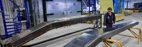 NLR thermoplastic composite engine pylon spar pilot production