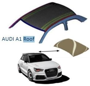 automated preforming composites Coriolis Composites automated fiber placement AFP preform for Audi A1 roof