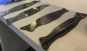 Van Wees automated composite production line die-cut carbon fiber polyamide unidirectional tape preforms for composite parts